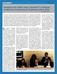 """Sociedad civil califica como """"superficial"""" el informe ... - Peace Watch"""