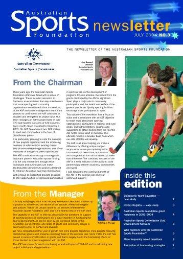 July 2004 - Australian Sports Foundation