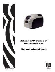 Zebra® ZXP Series 3™ Kartendrucker Benutzerhandbuch