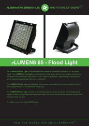 eLumen8 Floodlight - Alternative Energy Distribution Limited