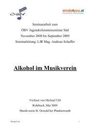 Alkohol im Musikverein