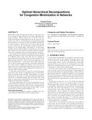 Optimal Hierarchical Decompositions for Congestion Minimization in ...