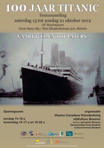 """tentoonstelling """"100 Jaar Titanic - Erfgoedcel Waasland"""