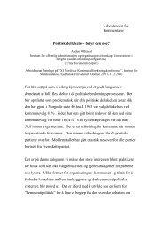 Politisk deltakelse - Syddansk Universitet