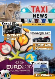 INFINITI BMW 528 Essai Concept car M30d Hommage ... - Taxinews.fr
