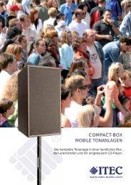 COMPACT-BOX MOBILE TONANLAGEN - Itec