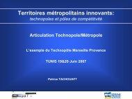 L'exemple du technopole Marseille Provence - Euromedina
