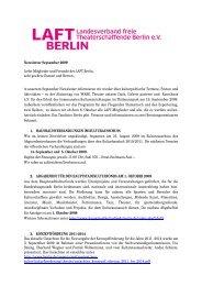 Newsletter September 2009 Liebe Mitglieder und Freunde des LAFT ...
