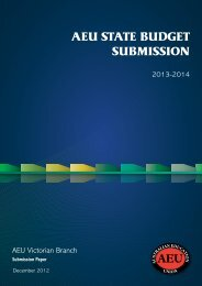 State Budget Submission 2013 - Australian Education Union ...