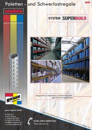 Palettenregale Superbuild - Werbebroschüre - gewe LagerTec
