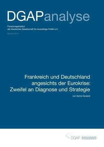 Frankreich und Deutschland angesichts der Eurokrise: Zweifel an ...