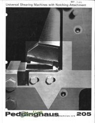 Peddinghaus Shears with Notching 205 Brochure - Sterling Machinery
