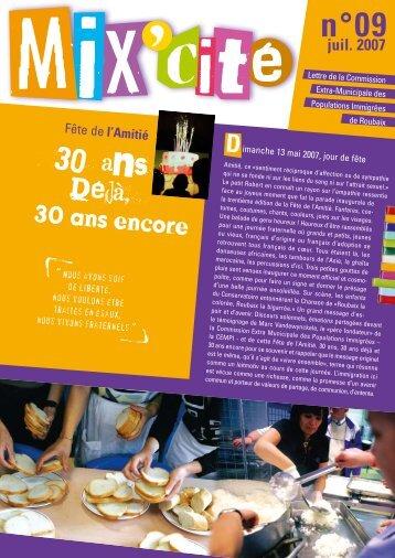 Mix'Cité n°9 spécial Fête de l'amitié - La Fabrique - Ville de Roubaix