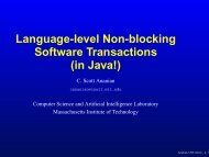 Language-level Non-blocking Software ... - C. Scott Ananian