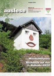 auslese - Ausgabe 1|2012 - Weinbruderschaft Franken