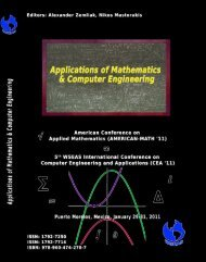 Applications of Mathematics and Computer Engineering - Wseas.us