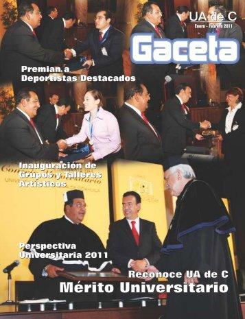 Gaceta Enero - Febrero-2011 X4 - Universidad Autónoma de Coahuila