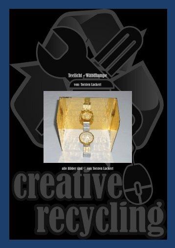 Teelicht - Wandlampe - creative-recycling bei google+