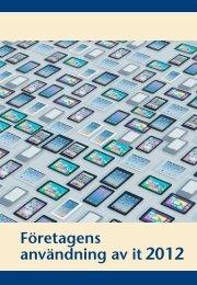 Företagens användning av it2012 (pdf) - Statistiska centralbyrån