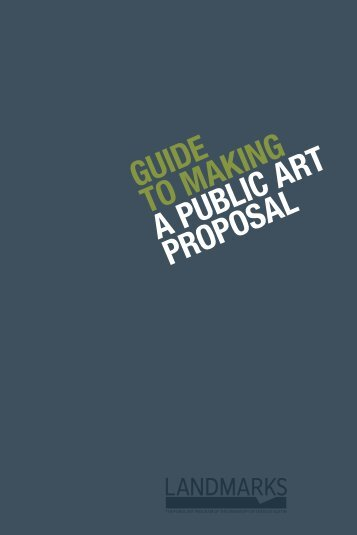 Guide to makinG a public art proposal - Landmarks - The University ...