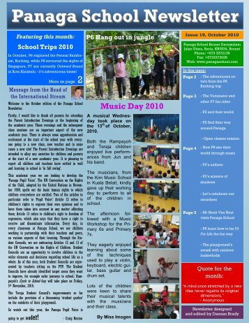 october 10 newsletter draft - Panaga School