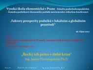 Řecký trh práce v době krize - Katedra podnikové ekonomiky