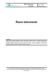 Řízená dokumentace - Vysoká škola ekonomická v Praze
