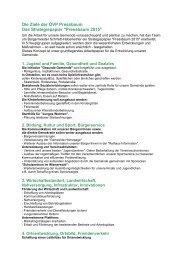Die Ziele der ÖVP Pressbaum Das Strategiepapier