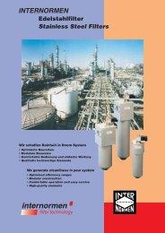 INTERNORMEN Edelstahlfilter Stainless Steel Filters - Fluidtech