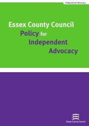 Essex County Council Policy for Independent Advocacy - Support