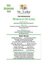 march 2013 - St. Luke Lutheran Church