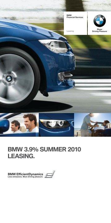 BMW 3.9% SUMMER 2010 LEASING.
