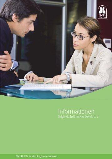 Informationen zur Mitgliedschaft - bei den Flair Hotels