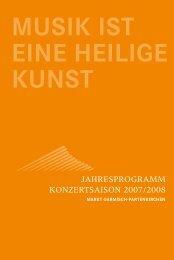 MUSIK IST EINE HEILIGE KUNST - Richard Strauss Festival