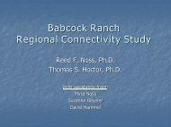 Babcock Ranch Regional Connectivity Study - Center for Landscape ...