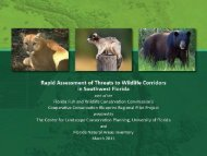 Rapid Assessment of Threats to Wildlife Corridors in SW Florida ...