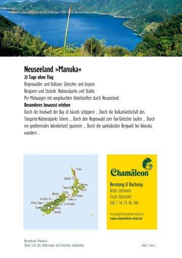 Neuseeland »manuka«