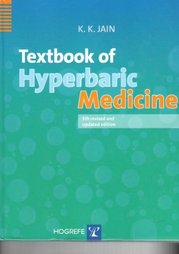 International Indications For Hyperbaric Oxygen Therapy - HyperMED