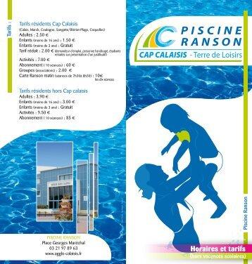 PISCINE RANSON - Ville de Calais