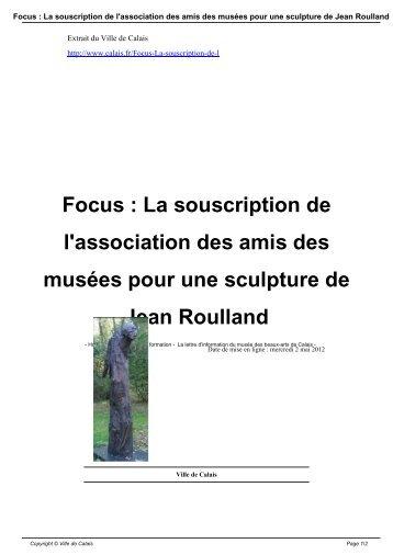 Focus : La souscription de l'association des amis ... - Ville de Calais