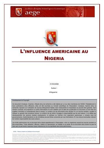 L'influence américaine au Nigéria - Base de connaissance AEGE