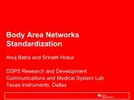 Body Area Networks Standardization - IEEE Computer Society