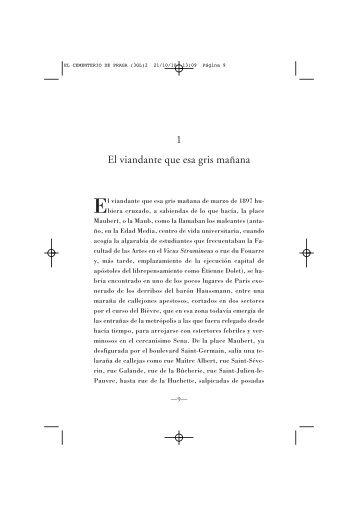 El cementerio de Praga, Umberto Eco. - El País