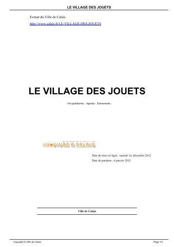 LE VILLAGE DES JOUETS - Ville de Calais