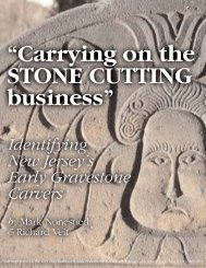 Carrying on the STONE CUTTING business - Garden State Legacy
