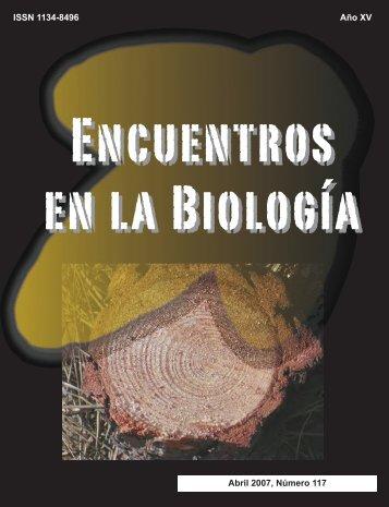 ISSN 1134-8496 Año XV Abril 2007, Número 117 - Encuentros en la ...