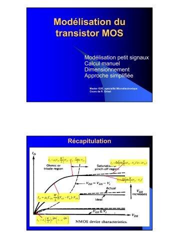 5. Modélisation du transistor MOS