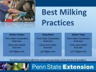 Best Milking Practices - All-American Dairy Show