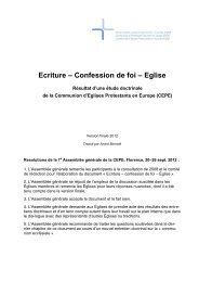 Ecriture – Confession de foi – Eglise - Community of Protestant ...
