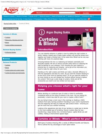 Curtains & Blinds Buying guide at Argos.co.uk - Your Guide to ...